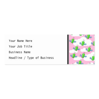 Happy Cute Bugs and Pink Sky Mini Business Card