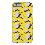 happy cute buzzing bumble bees barely there iPhone 6 case