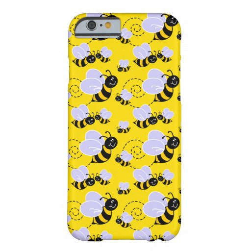 happy cute buzzing bumble bees iPhone 6 case
