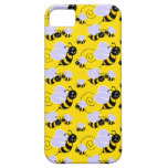 happy cute buzzing bumble bees iPhone 5 case