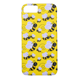 happy cute buzzing bumble bees iPhone 7 case