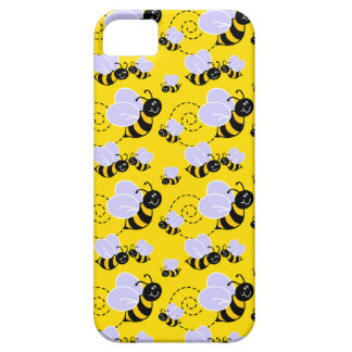happy cute buzzing bumble bees iPhone SE/5/5s case