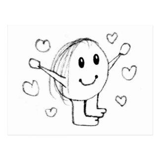 Happy Cute Character Postcard