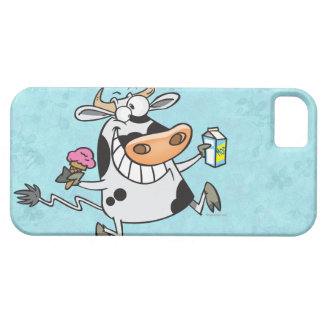 happy cute dairy cow cartoon ice cream milk iPhone SE/5/5s case