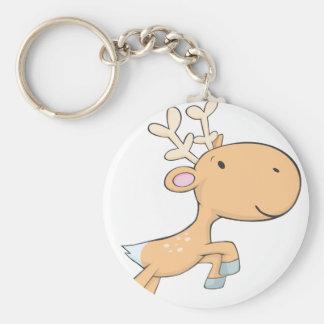 Happy Cute Deer Keychain
