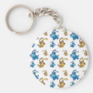 Happy Cute Dogs Smiling Pattern Keychain
