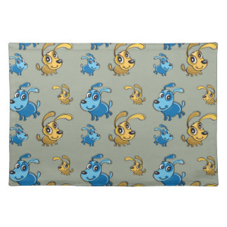 Happy Cute Dogs Smiling Pattern Placemat