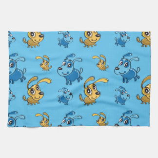 Happy Cute Dogs Smiling Pattern Towels
