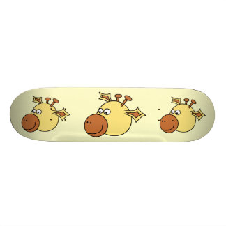 Happy Cute Giraffe Cartoon Animal Skate Board Deck