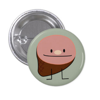 Happy Cute Holiday Ham Pinback Button