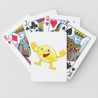 Happy cute lemon fruit character deck of cards