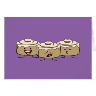 Happy Cute Smiling Cinnamon Rolls Card