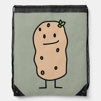 Happy Cute Smiling Potato Drawstring Bag