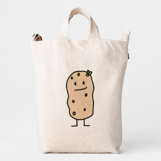 Happy Cute Smiling Potato Duck Bag
