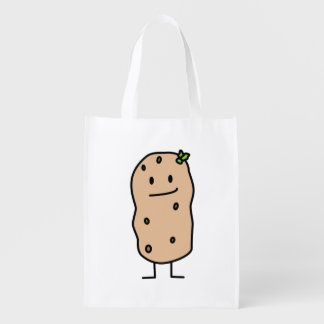 Happy Cute Smiling Potato Grocery Bag