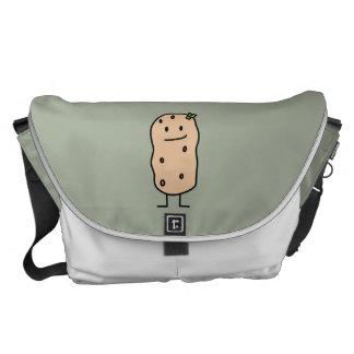 Happy Cute Smiling Potato Messenger Bag