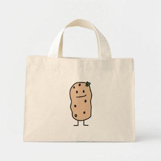 Happy Cute Smiling Potato Mini Tote Bag