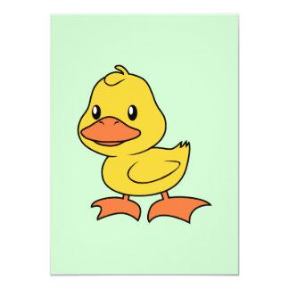 Happy Cute Yellow Duckling 4.5x6.25 Paper Invitation Card