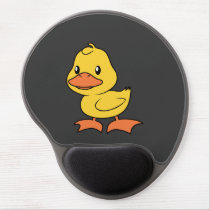 Happy Cute Yellow Duckling Gel Mouse Pad