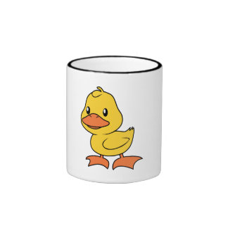 Happy Cute Yellow Duckling Mugs