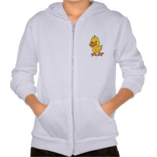 Happy Cute Yellow Duckling Hooded Sweatshirts