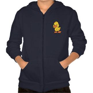 Happy Cute Yellow Duckling Hooded Sweatshirt