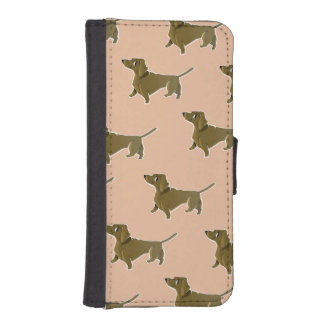 Happy Dachshund Wallet Phone Case For iPhone SE/5/5s