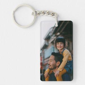 Happy Dad & Daugher Keychain