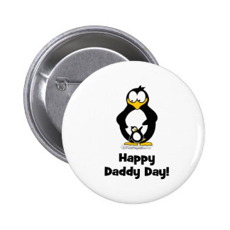 Happy Daddy Day Penguin Button