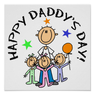 Happy Daddy's Day Poster