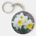 Happy Daffodils Keychain Keyring