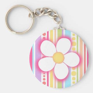 Happy daisy keychain
