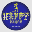 Happy Dance (2c) - Fade to Black Round Stickers