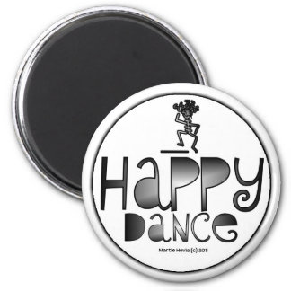 Happy Dance - A Positive Word 2 Inch Round Magnet