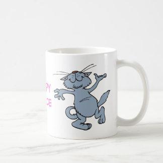 Happy Dance Funny Joyful Dancing Cat Coffee Mug