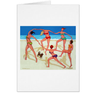 Happy Dance - Girls on Vacation at the Beach Cards