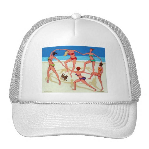 Happy Dance - Girls on Vacation at the Beach! Trucker Hat