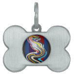 Happy Dance - Stained Glass Waves Pet Name Tags
