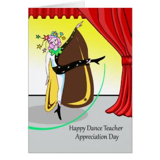 Happy Dance Teacher Appreciation Day, Performance Card