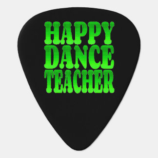 Happy Dance Teacher in Green Guitar Pick