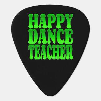 Happy Dance Teacher in Green Guitar Pick