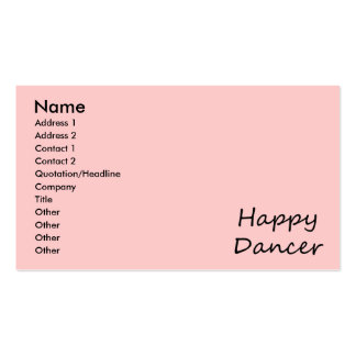 Happy Dancer black script Business Card