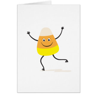 Happy dancing candy corn card