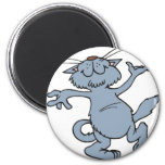 Happy Dancing Cat Fridge Magnet
