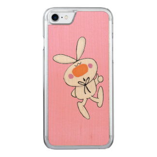 Happy Dancing Cute Cartoon White Rabbit Bunny Carved iPhone 8/7 Case