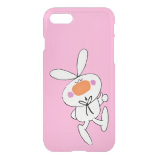 Happy Dancing Cute Cartoon White Rabbit Bunny iPhone 8/7 Case