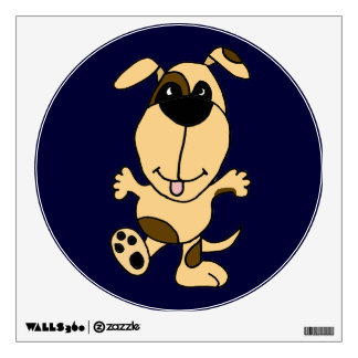 Happy Dancing Dog Wall Decal
