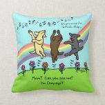 Happy Dancing Labrador Trio at the Rainbow Bridge Pillows