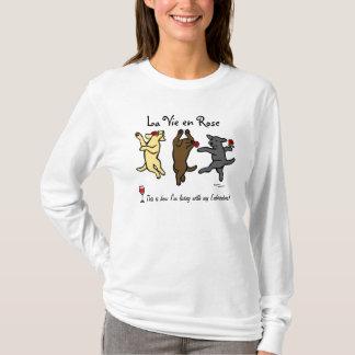Happy Dancing Labrador Trio Cartoon T-Shirt