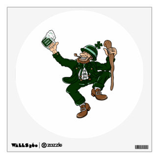 happy dancing leprecaun stick drink.png wall decal